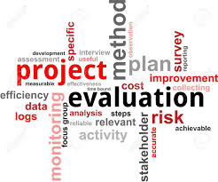 Project Evaluation A Word Cloud Of Project Evaluation Related Items Royalty Free 1