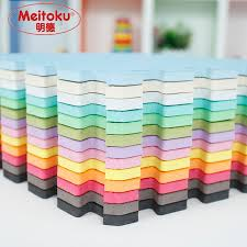 Meitoku baby EVA Foam Play Puzzle Mat9pcslot Interlocking Exercise