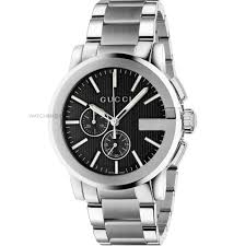 "gucci watches official gucci stockist watch shop comâ""¢ mens gucci g chrono chronograph watch ya101204"