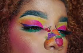 this insram trend is putting colourful makeup in an unlikely place