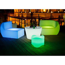 Glow Furniture Illuminati Led Glow Sectional Middle Led Furniture