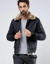 schott air er jacket faux fur collar exclusive black men schott clothing 100 quality guarantee