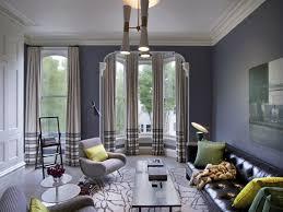 living room blue grey walls
