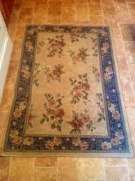 vintage victorian beautiful area rug rose print 61 x42 great condition 526801593