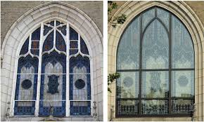 stained glass protective covering and frame repair