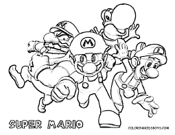Mario Coloring Pages Printable Coloring Page For Kids