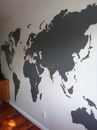 Small Picture Extra Large World Map Vinyl Wall Sticker Office interiors Wall
