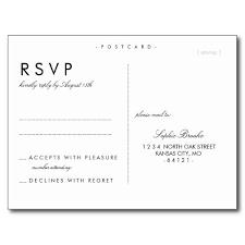 wedding rsvp postcards templates simple chic wedding rsvp postcard template postcard template