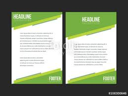 Green Brochure Template Green And White Leaflet Brochure Flyer Template A4 Size Design Book