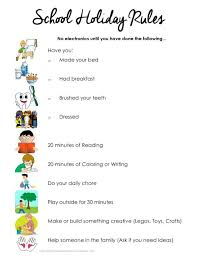 best school holiday activities ideas holiday kids summer checklist school holiday rules kids have to complete the list before they