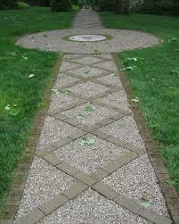 Lawn & Garden:Wonderul Rock Garden Patchway With Greenland Idea Fascinating  Garden Pathway Landscaping Ideas