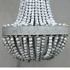 Holz Perlen Pendelleuchte Hngelampe Kronleuchter Antik Shab