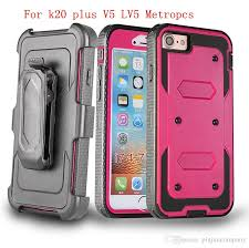 For LG K20 PLUS V5 LV5 K10 2017 Stylo 3 Plus Metropcs G6 Hybrid Armor Phone Case Holster Combo Shockproof Cover Belt Clip Spigen Cell Cases Tough