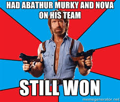 Had Abathur Murky and Nova on his team Still won - Chuck Norris ... via Relatably.com