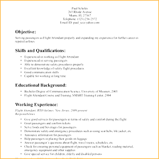 Flight Attendant Resume Sample With No Experience Filename