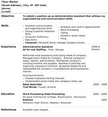 Resume Example Free Office Assistant Resume Templates Resume