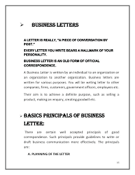 Business Communication Letters Pdf Card Business Correspondence Examples Types Of Letters And Ppt