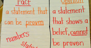 Fact Vs Opinion Anchor Chart Eclectic Educating Fact And Opinion