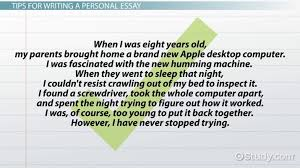 Personal Essay Definition Format Examples Video Lesson