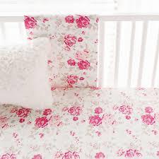 rose crib sheet
