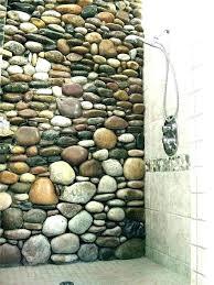river stone shower floor stone shower floor river rock clean pebble rustic look not sure tile