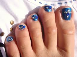 Blue And Silver Toe Nail Designs Pedicures Just Got Better With These 50 Cute Toe Nail Designs