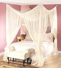 Amazon Dreamma 4 Poster Bed Canopy Mosquito Net Queen King