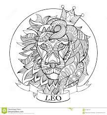 вектор книжка раскраски знака зодиака льва иллюстрация вектора