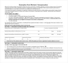 worker compensation form cooperative portray workers exemption