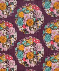 fabric garden. Dark Purple \u0027Garden Secrets\u0027 Flower Cloud 9 Voile Organic Cotton Glitter Fabric 2 Garden