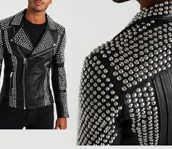 arrow men studded leather jacket 97797asdggas