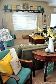 Living Room Craft Home Decor My Turquoise And Yellow Family Room Craft O Maniac