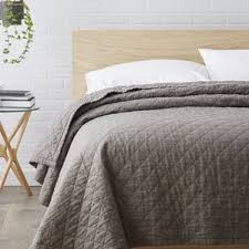 Quilts & Coverlets You'll Love | Wayfair & Susann Quilted Washed Belgian Linen Coverlet Adamdwight.com