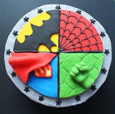 Superhero Cake Design Superhero Cake Spider Man Superman Batman Hulk