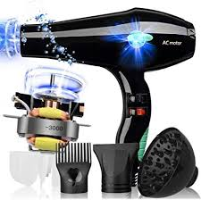 2000W <b>Hair Dryer</b> Blue Light <b>Anion</b> Ceramic Ionic Fast Styling Blow ...