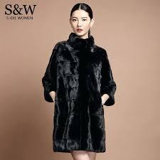 womens plus size coats 4x mandarin collar stripe section long mink fur coat winter womens plus size coats 4x