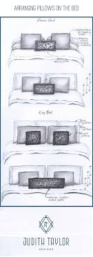 Best 25+ King size bedding ideas on Pinterest | King size bed ... & Arrangement and sizing for pillows on Queen and King-sizes beds Adamdwight.com