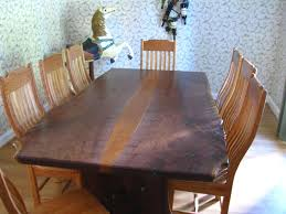 Natural Wood Dining Tables Live Edge Wood Furniture Custommadecom