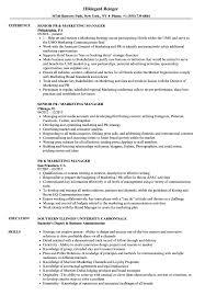 Pr Marketing Manager Resume Samples Velvet Jobs