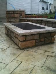 patio ideas with square fire pit. Square Fire Pit? Patio Ideas With Pit N