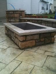 concrete patio with square fire pit. Square Fire Pit? Concrete Patio With Pit