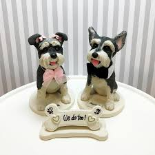 5 Mini Schnauzer Cake Toppers We Do Too Bone Shaped Sign With