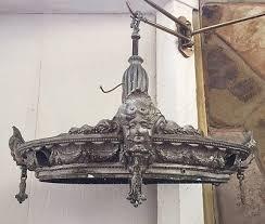 antique art deco nouveau face wedding cake chandelier parts repair theater