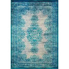 vintage moriah blue 8 ft x 11 ft area rug
