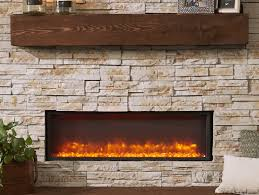 gallery built in linear electric fireplace