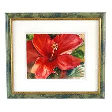 Framed Floral Watercolor Signed by Priscilla Powers | EBTH