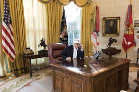 white house oval office desk. President Donald Trump In The Oval Office. Joyce N. Boghosian/White House White Office Desk H