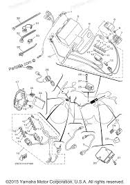 Yamaha motorcycle 2015 oem parts diagram for electrical 1