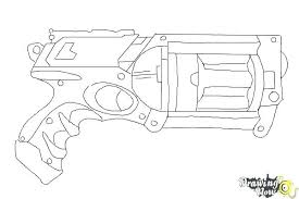 Nerf Gun Coloring Pages Free Sheets Colouring Sheet Printable Halo