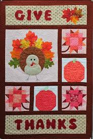 Happy Harvest! 6 Thanksgiving Quilts to Stitch & Give Thanks A Harvest Wall Hanging Adamdwight.com